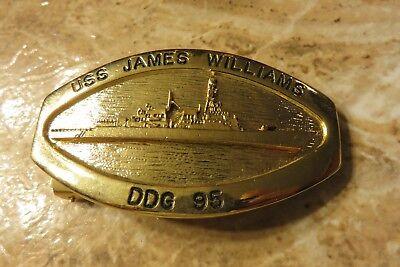 Navy Belt Buckle USS James E. Williams DDG-95 Arleigh Burke-class Destroyer USN