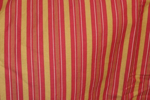 Set of Two beautiful Ralph Lauren EDMONTON Red & Gold striped EURO Pillow Shams