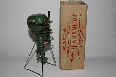 1950's K & O Johnson Sea Horse 25HP toy outboard boat motor with Original Box