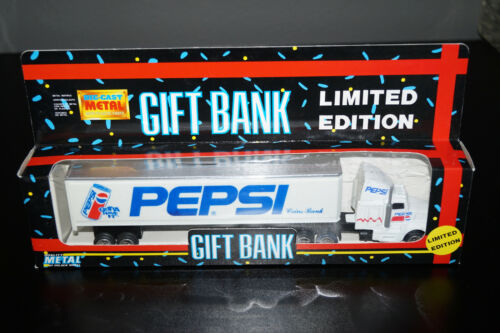 PEPSI DIE CAST LIMITED EDITION COIN BANK SEMI TRUCK NEW IN BOX