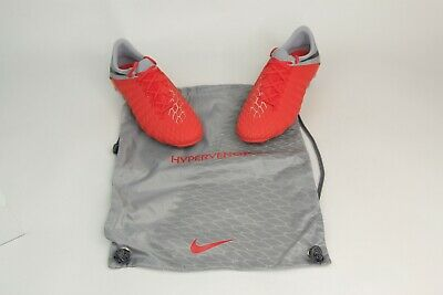 3a241d37309a New Nike Hypervenom Phantom 3 Elite FG Red Grey Soccer Cleats AJ3805-600 SZ  6.5