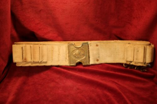 Canvas Shotgun Belt - 12 Gauge - Brass Hanger and Buckle