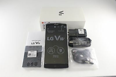 "New LG V10 H900 Space Black 4G LTE 64GB 5.7"" Android 16MP Camera Unlocked"