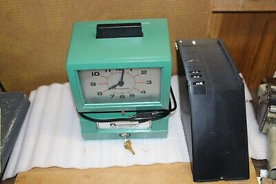 Accuprint Time Clock 125nr4 With Card Holder  Accuprint 125nr4  Analog