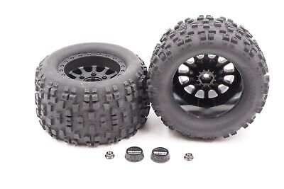 Associated - 1/10 Rival MT10 4WD - Monster Truck - Wheels/Tires w/ Nuts & Caps