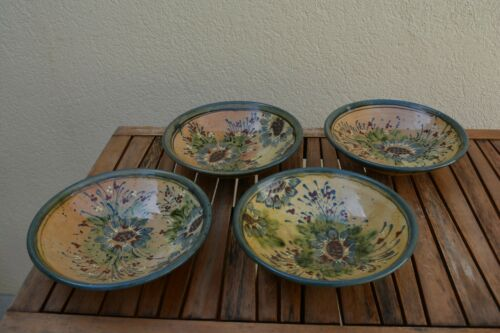 "Sud & Co. 9"" Bowls (4)  F.F. Griffi Corsica Terraghja, Pottery - Made In France"