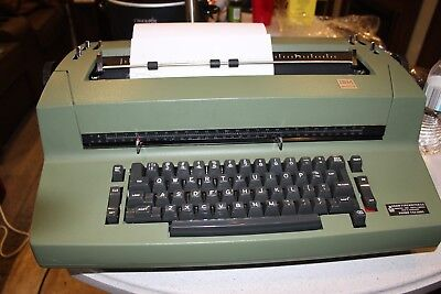 Vintage Ibm Selectric Ii Green Correcting Typewriter Parts Or Repair