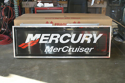 Mercury Mercrusier 2x6 Double Sided Illuminated Lighted Exterior Box Sign (Exterior Sign Light)