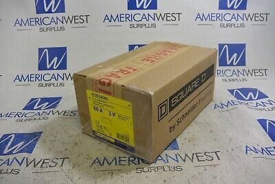 Square D Egb34060 Egb 3p 60 Amp 480 Volt Bolt On Circuit Breaker New In Box