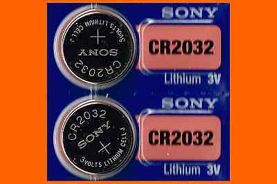 2 count of SONY CR2032 lithium 3v battery cr 2032 EXPIRE 2027