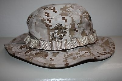 Sekri Industries USMC Combat Boonie Cover Hat Field Desert MARPAT Digital Large