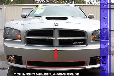 GTG 2006 - 2010 SRT8 Dodge Charger 1PC Gloss Black Overlay Bumper Billet Grille
