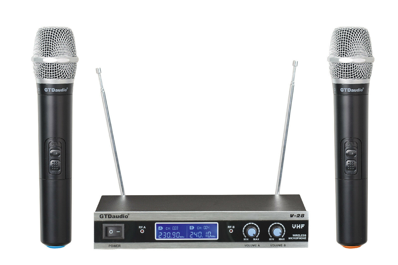 GTD Audio V-28H VHF Wireless Microphone System with 2 Hand h