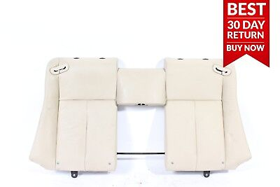06-10 BMW 650i Rear Right & Left Top Upper Seat Cushion Cover Assembly Beige OEM