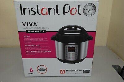 Instant Pot VIVA Pressure Cooker 9in1 6 Qt Multi-Use Program Cake maker (N-22B)