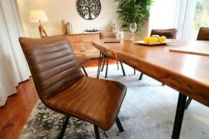 High Quality PU Brown Dining Chairs - $160 each! NEW IN RETAIL STORE
