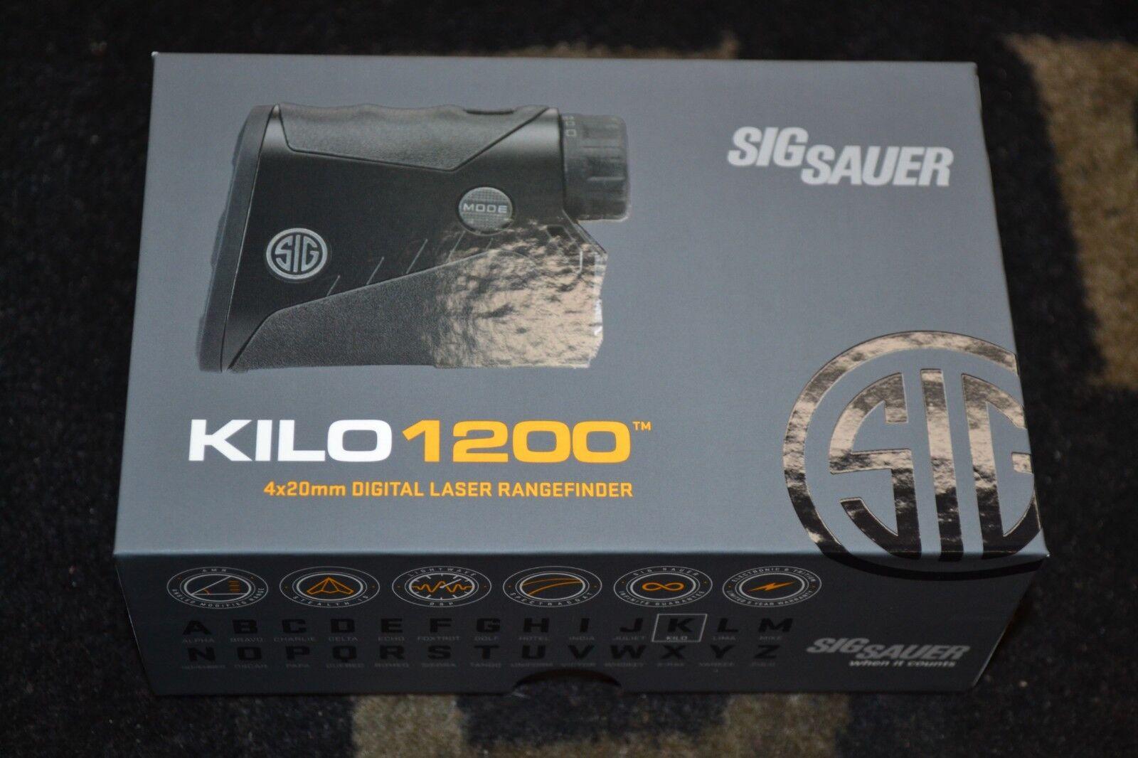 Sig Sauer KILO 1200 4x20mm Digital Laser Rangefinder NIB SOK