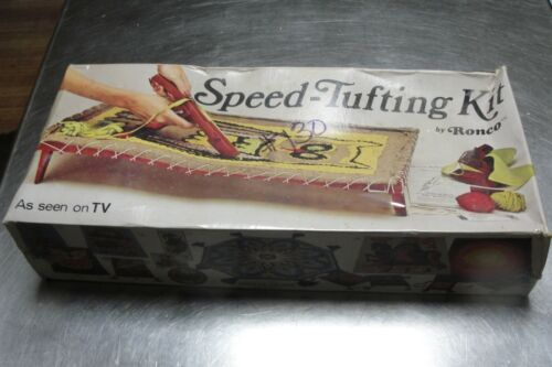 Ronco Speed Tufting Kit Vintage Owl Rug Crafters Tufting MISB c.1975 Complete