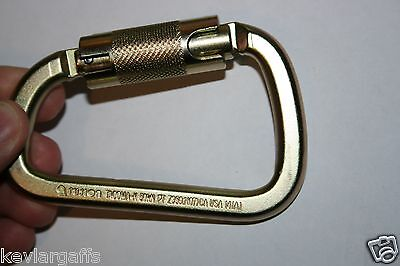 CARABINER STEEL Twist Lock 50KN or 11200Lb Auto Locking - HIGH STRENGTH GATE