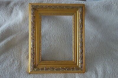 Bilderrahmen Barock Rahmen Gemälde Rahmen Altgold 26 x 20 cm Antik Look Holz NEU