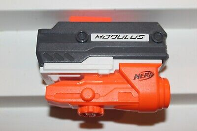 Nerf Modulus Targeting Scope White Orange Attachment Target Sight Green Light