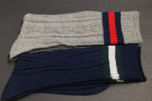 2 Pairs 7-11  WINTER BOOT SOCKS Full Knit Gray SOCKS
