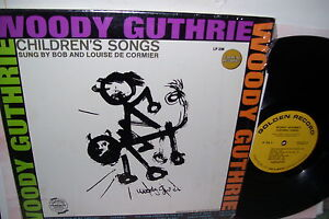 Woody-Guthrie-Childrens-Songs-Sung-by-Bob-amp-Louise-De-Cormier-LP-EX-SHRINlK
