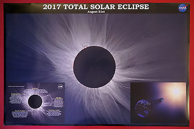 2017 Total Solar Eclipse Totality Nasa Display Picture Poster Print 24X36 New