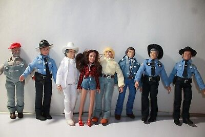 Set of 8 Dukes of Hazzard 8 Inch Action Figures: Series 1 & 2 (Loose) READ FIRST