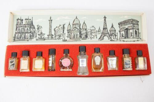 Vintage Charles V Mini Perfume Set Les Grands Parfums de France in Box