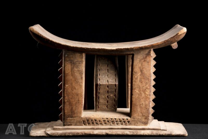 Ewe Ceremonial Family Stool, Ashanti, Akan, Ghana Africa, Tribally Used Artifact