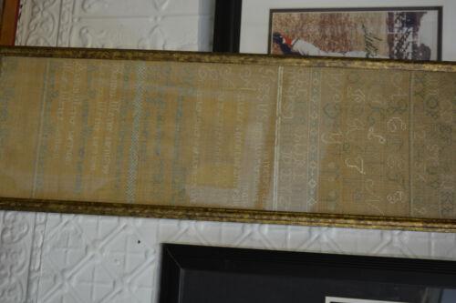 1797- 1815 Family Sampler RARE18th Century AMERICAN Sampler, Estate Fresh Large