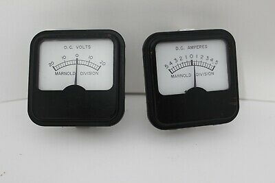 Marnold Division Dc Volt Amp Meters Very Clean