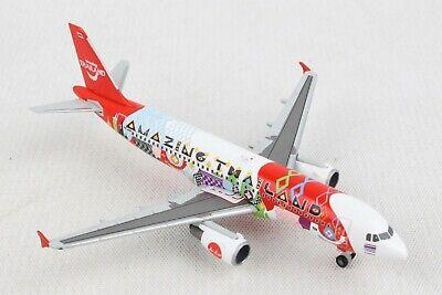 HE532686 HERPA WINGS THAI AIR ASIA AIRBUS A320 1/500 DIE-CAST AMAZING THAILAND