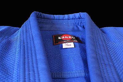 Kanku Bjj Gi  Judo Uniform  Single Weave Blue Color Jiu Jiutsu Aikido Adult Kids