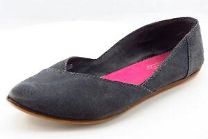 Toms Ballet Flats Gray Leather Women Shoes Size 10 Medium (B, M)