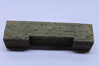 Vintage Letterpress Lead Print Block - Park Pollard Co. Dry-mash Advertising