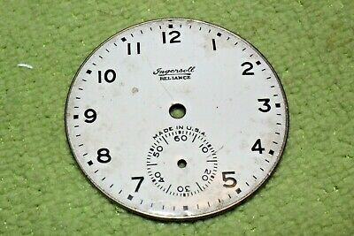 #PW59,Ingersoll Reliance Watch Co.42mm Porcelain Dial For Pocket Watch