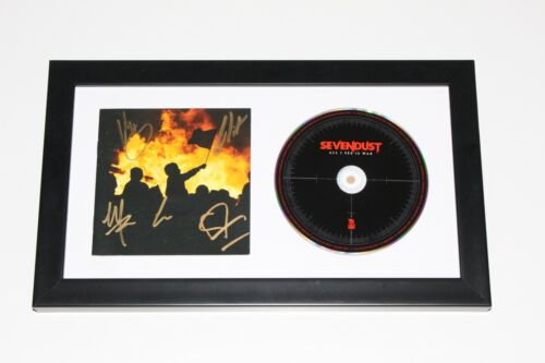 SEVENDUST BAND SIGNED FRAMED 'ALL I SEE IS WAR' CD COVER ALBUM COA HOME SEASONS