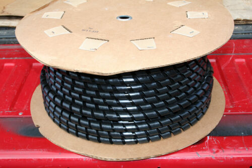 """100 FT ROLL HT3/4"""" BLACK SPIRAL WRAP ELECTRICAL/CABLE PROTECTION NELCO"""