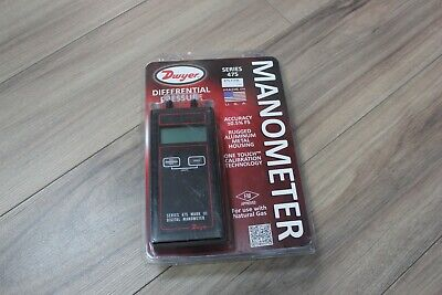 Dwyer 475-1-fm Mark Iii Digital Manometer 0-20.00w.c. For Natural Gas