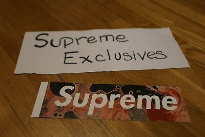 Supreme X Andres Serrano Blood And Semen Box Logo Sticker  Fw17