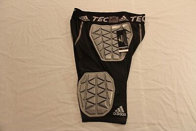3773d43451297 ADIDAS IRONSKIN TECH 5 PAD COMPRESSION SHORTS! FOOTBALL GRIDLE! XL!  NEW/TAGS!