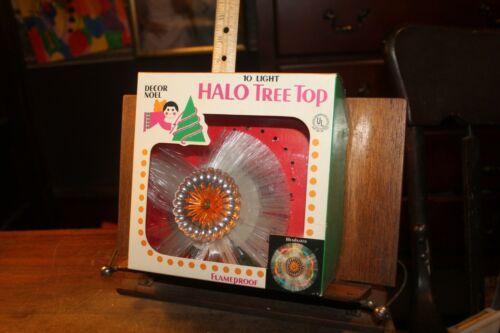 Vintage Christmas Tree Topper Halo Tree Top in Box Decor Noel