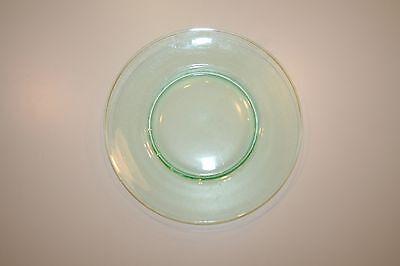 "Vaseline Uranium Green Glass Plate 9"""