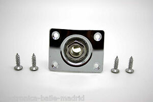 NEW-CHROME-JACK-PLATE-amp-SOCKET-FOR-GIBSON-EPIPHONE-TELECASTER-JACK-GUITARRA