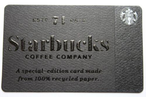 Starbucks Card #6134 - 2017 Black Recycled SE