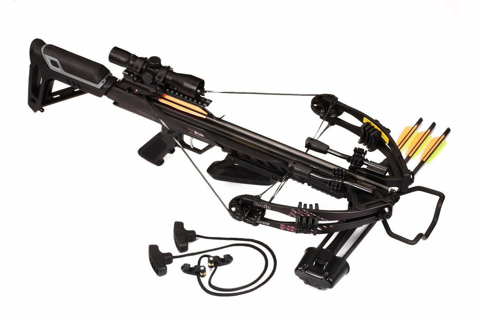 Bruin Ambush 345 Crossbow Package w/ Scope, Bolts, Quiver and Cocking Rope