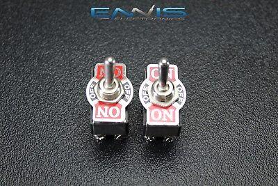 2 PCS TOGGLE SWITCH DPDT CENTER OFF TOGGLE 10 AMP 250V 20 AMP 125V 6 PIN EC-1520