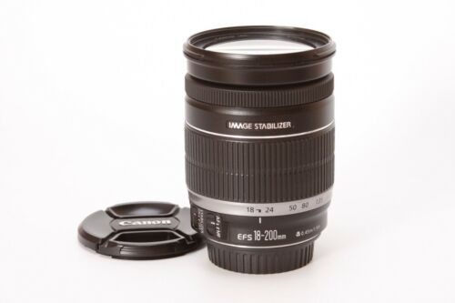 Canon 2752B002 EF-S 18-200mm f/3.5-5.6 IS Wide Lens - Black #A